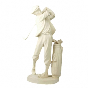 Statue golf player