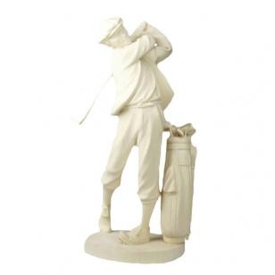 Statue golf player