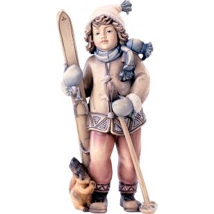 Socha dievča s lyžami