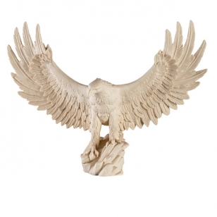 Statue  eagle on a rock