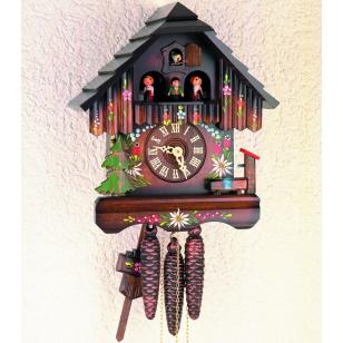 Kukučkové hodiny Hekas 3670 EX maľovaný domček