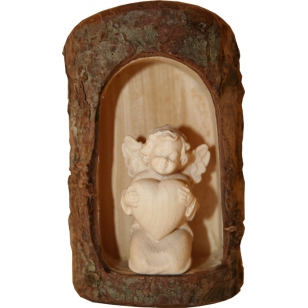 Wooden statue of the angel...