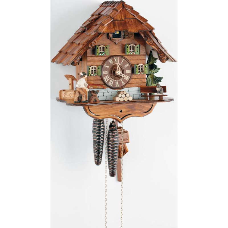 Zegar z kukułką Schneider 1116/9 piłowanie drewna