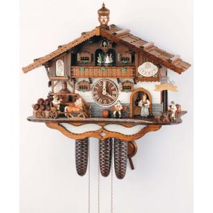 Schneider cuckoo clock 8TMT 3414/9 a beer garden