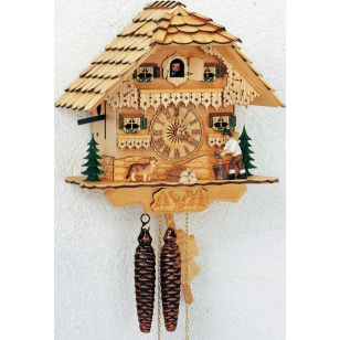 Cuckoo clock Dog and man