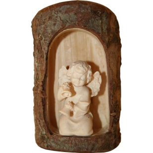 Drevená socha anjel Diana...