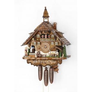 Kukučkové hodiny Hekas 3736/8 EX Pivná záhrada