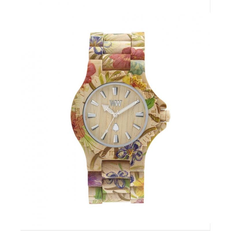 Náramkové hodinky Wewood Date Flower beige