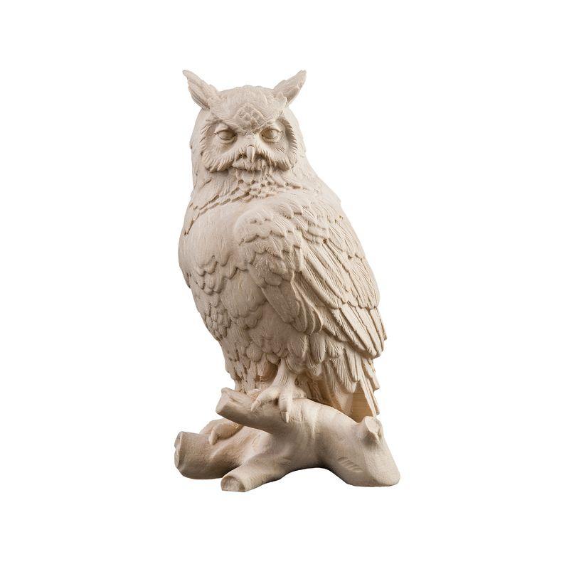 Drevená socha Sova na konári