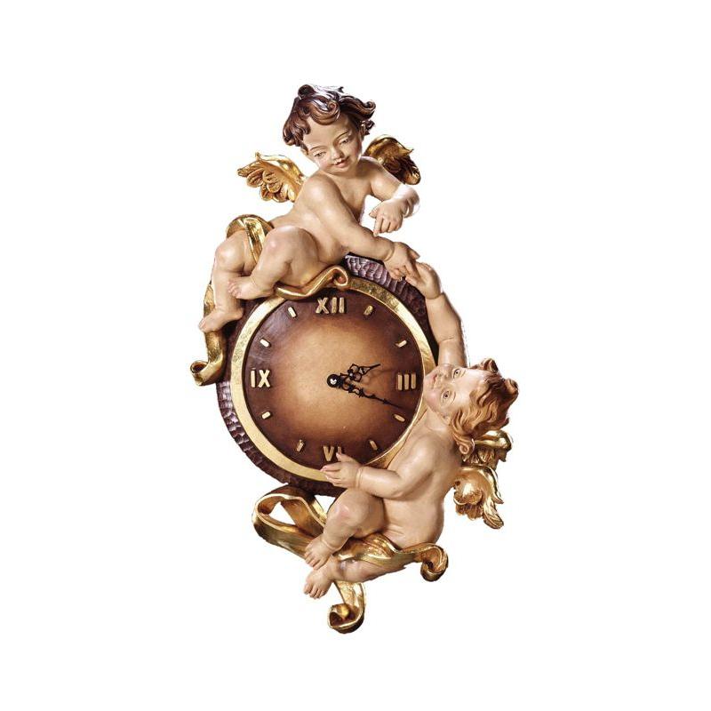 Drewniany zegar s aniołem