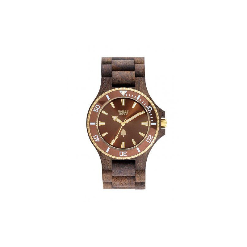 Hodinky Wewood Date MB choco rough brown