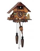 Quarz cuckoo clocks with battery driven quarz mechanism