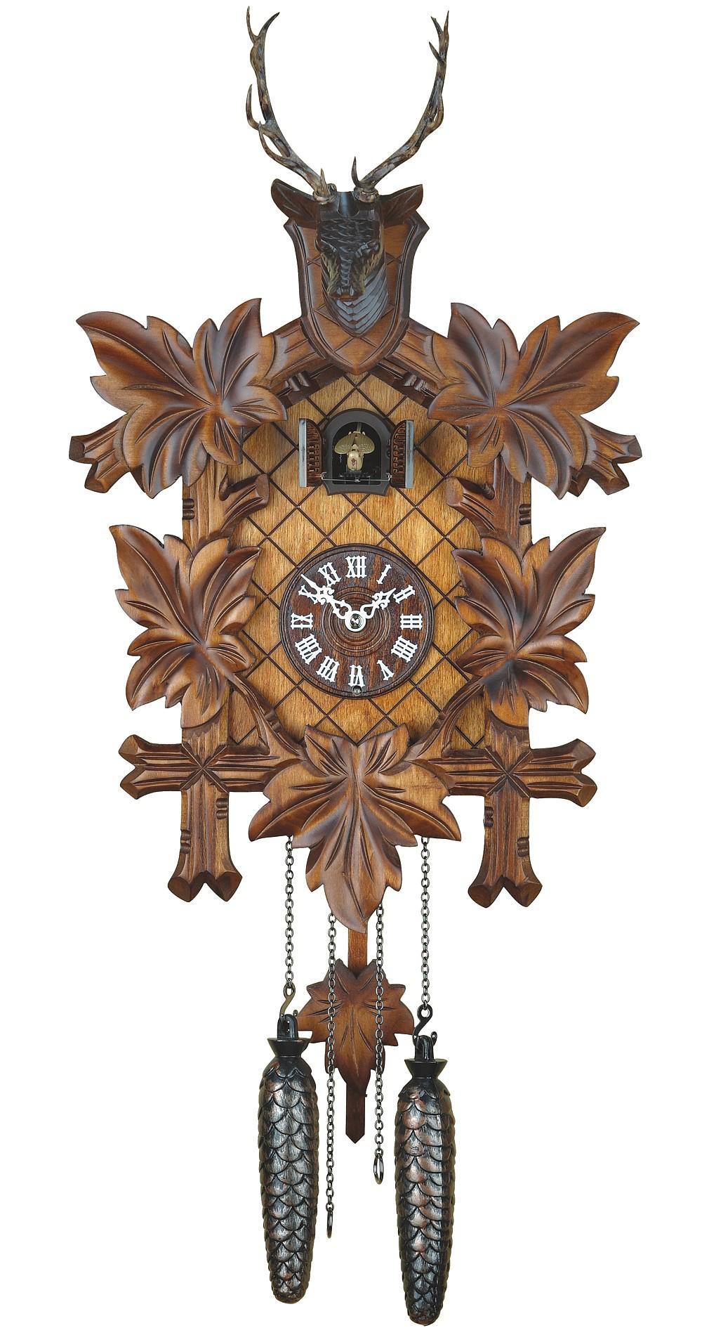 hunting cuckoo clock trenkle 355 q hzzg kuku kov hodiny. Black Bedroom Furniture Sets. Home Design Ideas